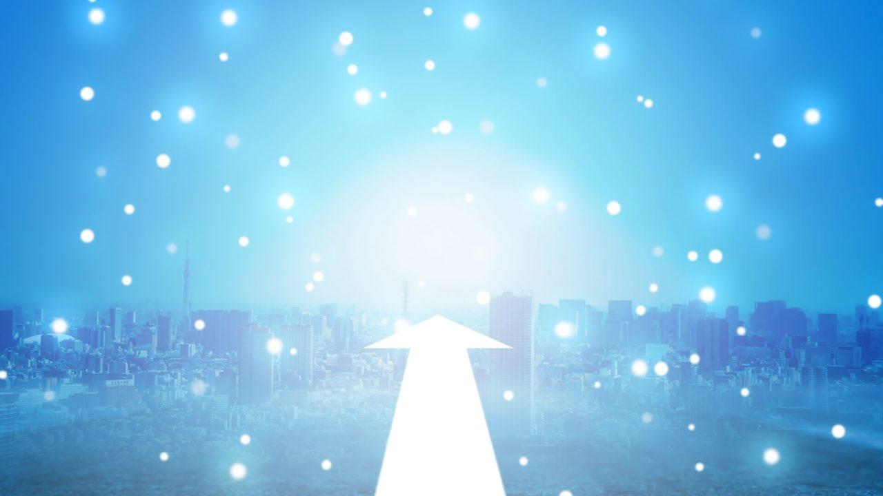 光が高速に進んでいる絵